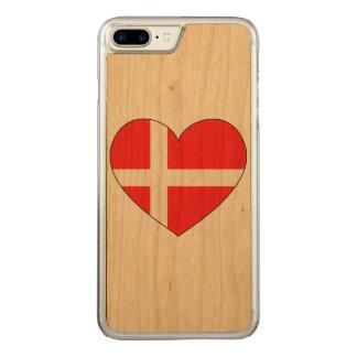 Capa iPhone 8 Plus/ 7 Plus Carved Bandeira de Dinamarca simples