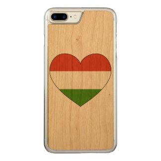 Capa iPhone 8 Plus/ 7 Plus Carved Bandeira de Hungria simples