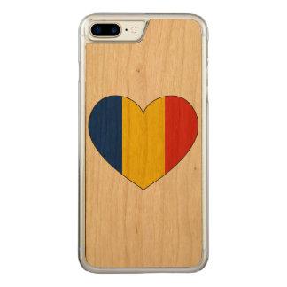 Capa iPhone 8 Plus/ 7 Plus Carved Bandeira de Romania simples