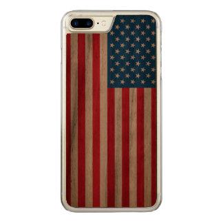 Capa iPhone 8 Plus/ 7 Plus Carved Bandeira dos Estados Unidos da bandeira dos EUA