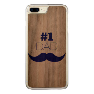 Capa iPhone 8 Plus/ 7 Plus Carved Bigode azul do pai #1 - número um