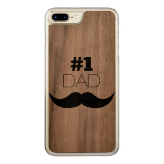 Capa iPhone 8 Plus/ 7 Plus Carved Bigode do preto do pai #1 - número um