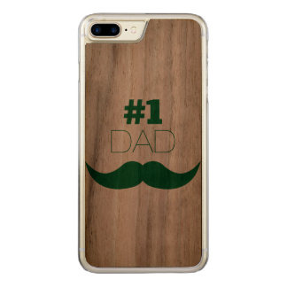Capa iPhone 8 Plus/ 7 Plus Carved Bigode do verde do pai #1 - número um