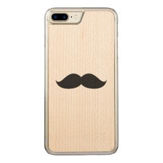 Capa iPhone 8 Plus/ 7 Plus Carved Bigode preto engraçado bonito