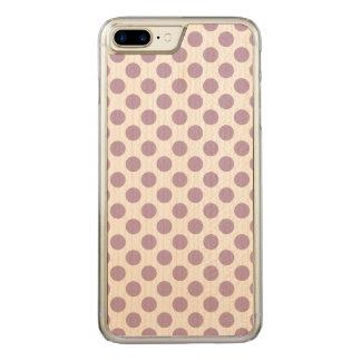 Capa iPhone 8 Plus/ 7 Plus Carved Bolinhas do Lilac