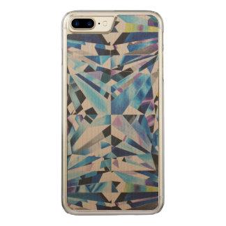Capa iPhone 8 Plus/ 7 Plus Carved Caixa de madeira do diamante do bordo magro