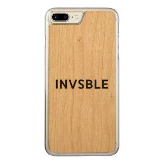 Capa iPhone 8 Plus/ 7 Plus Carved Caixa magro da madeira da cereja de INVSBLE