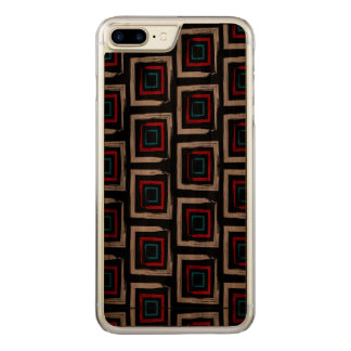 Capa iPhone 8 Plus/ 7 Plus Carved Caixa magro positiva da madeira da noz do iPhone 7