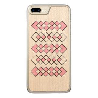 Capa iPhone 8 Plus/ 7 Plus Carved Caixa magro positiva da madeira do bordo do iPhone