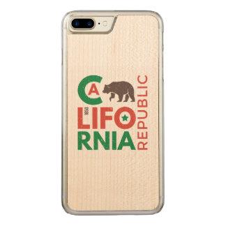Capa iPhone 8 Plus/ 7 Plus Carved Califórnia com logotipo do urso de urso