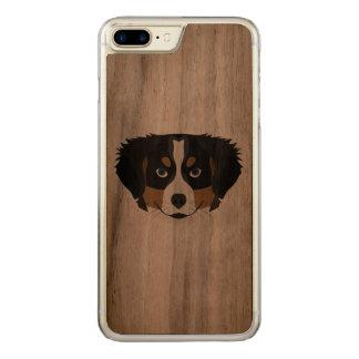 Capa iPhone 8 Plus/ 7 Plus Carved Cão de montanha de Bernese da ilustração