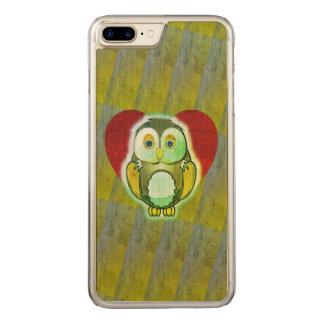Capa iPhone 8 Plus/ 7 Plus Carved Caso de madeira - coruja para o iPhone