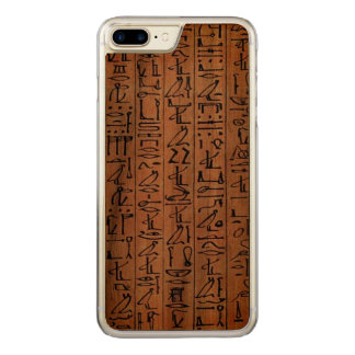 Capa iPhone 8 Plus/ 7 Plus Carved Caso egípcio dos hieroglyphics para o iPhone de
