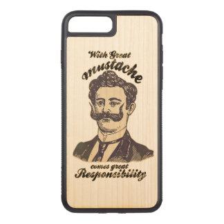 Capa iPhone 8 Plus/ 7 Plus Carved Com grande bigode, vem a grande responsabilidade
