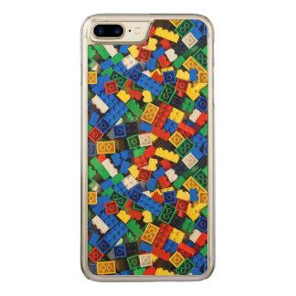 Capa iPhone 8 Plus/ 7 Plus Carved Construção dos tijolos da construção dos blocos de