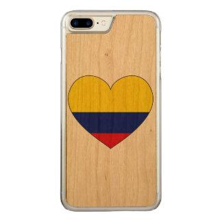 Capa iPhone 8 Plus/ 7 Plus Carved Coração da bandeira de Colômbia
