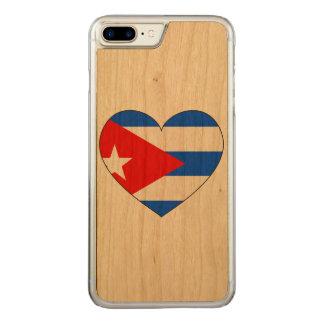 Capa iPhone 8 Plus/ 7 Plus Carved Coração da bandeira de Cuba
