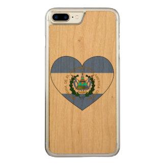 Capa iPhone 8 Plus/ 7 Plus Carved Coração da bandeira de El Salvador