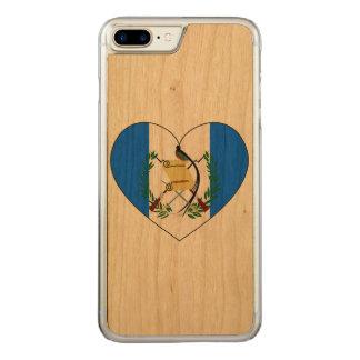 Capa iPhone 8 Plus/ 7 Plus Carved Coração da bandeira de Guatemala