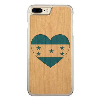 Capa iPhone 8 Plus/ 7 Plus Carved Coração da bandeira de Honduras