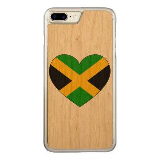 Capa iPhone 8 Plus/ 7 Plus Carved Coração da bandeira de Jamaica