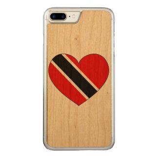 Capa iPhone 8 Plus/ 7 Plus Carved Coração da bandeira de Trinidad and Tobago
