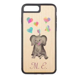 Capa iPhone 8 Plus/ 7 Plus Carved Corações do elefante pelos Feliz Juul Empresa
