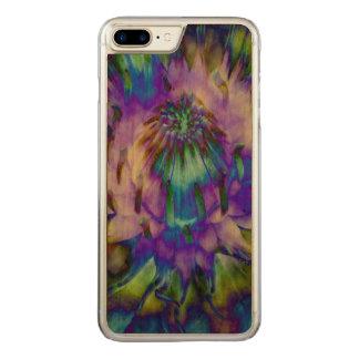 Capa iPhone 8 Plus/ 7 Plus Carved Design do lírio de água da tintura do laço