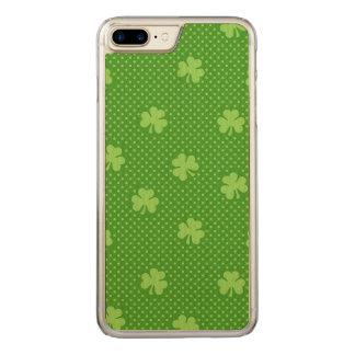 Capa iPhone 8 Plus/ 7 Plus Carved Dia verde de Patricks do santo do teste padrão do