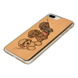 Capa iPhone 8 Plus/ 7 Plus Carved Doodles exóticos do bolso de KiniArt