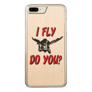 Capa iPhone 8 Plus/ 7 Plus Carved Eu vôo, faz você? (preto)