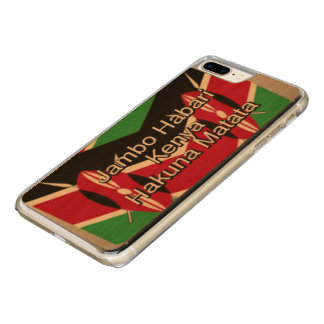 Capa iPhone 8 Plus/ 7 Plus Carved Faça-lhe o Kenyan cores da bandeira nacional