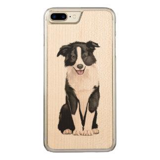 Capa iPhone 8 Plus/ 7 Plus Carved Filhote de cachorro de border collie
