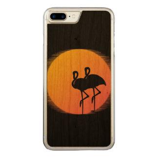 Capa iPhone 8 Plus/ 7 Plus Carved Flamingos do por do sol personalizados