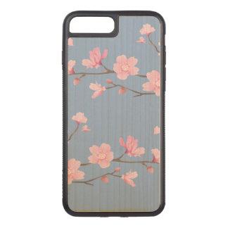 Capa iPhone 8 Plus/ 7 Plus Carved Flor de cerejeira - azul da serenidade