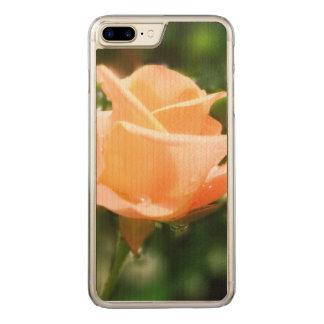 Capa iPhone 8 Plus/ 7 Plus Carved Flores cor-de-rosa do vintage
