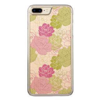 Capa iPhone 8 Plus/ 7 Plus Carved Flores florais artísticas