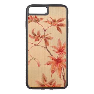 Capa iPhone 8 Plus/ 7 Plus Carved Folhas de bordo (impressão do japonês do vintage)