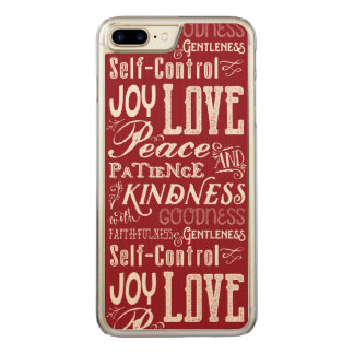 Capa iPhone 8 Plus/ 7 Plus Carved Fruta da alegria do amor do Natal da tipografia do
