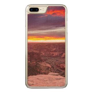 Capa iPhone 8 Plus/ 7 Plus Carved Garganta de Chelly, por do sol, arizona