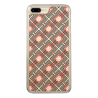 Capa iPhone 8 Plus/ 7 Plus Carved Geométrico vermelho & branco preto