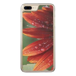 Capa iPhone 8 Plus/ 7 Plus Carved Gotas vermelhas das pétalas e da chuva do girassol