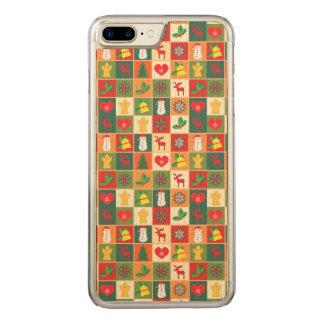 Capa iPhone 8 Plus/ 7 Plus Carved Grande teste padrão do Natal