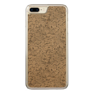 Capa iPhone 8 Plus/ 7 Plus Carved Grão da madeira do olhar do latido da cortiça