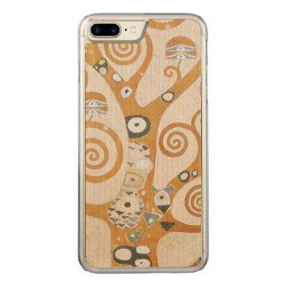 Capa iPhone 8 Plus/ 7 Plus Carved Gustavo Klimt a árvore da arte Nouveau da vida
