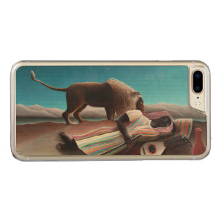 Capa iPhone 8 Plus/ 7 Plus Carved Henri Rousseau o vintage aciganado do sono