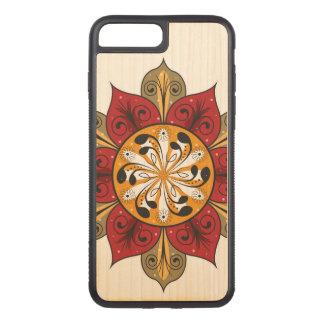 Capa iPhone 8 Plus/ 7 Plus Carved Ilustração abstrata da flor