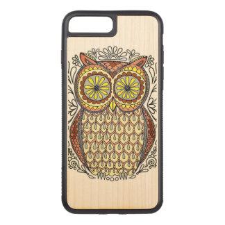 Capa iPhone 8 Plus/ 7 Plus Carved Ilustração colorida da coruja