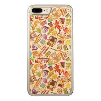 Capa iPhone 8 Plus/ 7 Plus Carved Ilustração do teste padrão do feliz aniversario