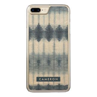 Capa iPhone 8 Plus/ 7 Plus Carved Impressão de Shibori Indigio